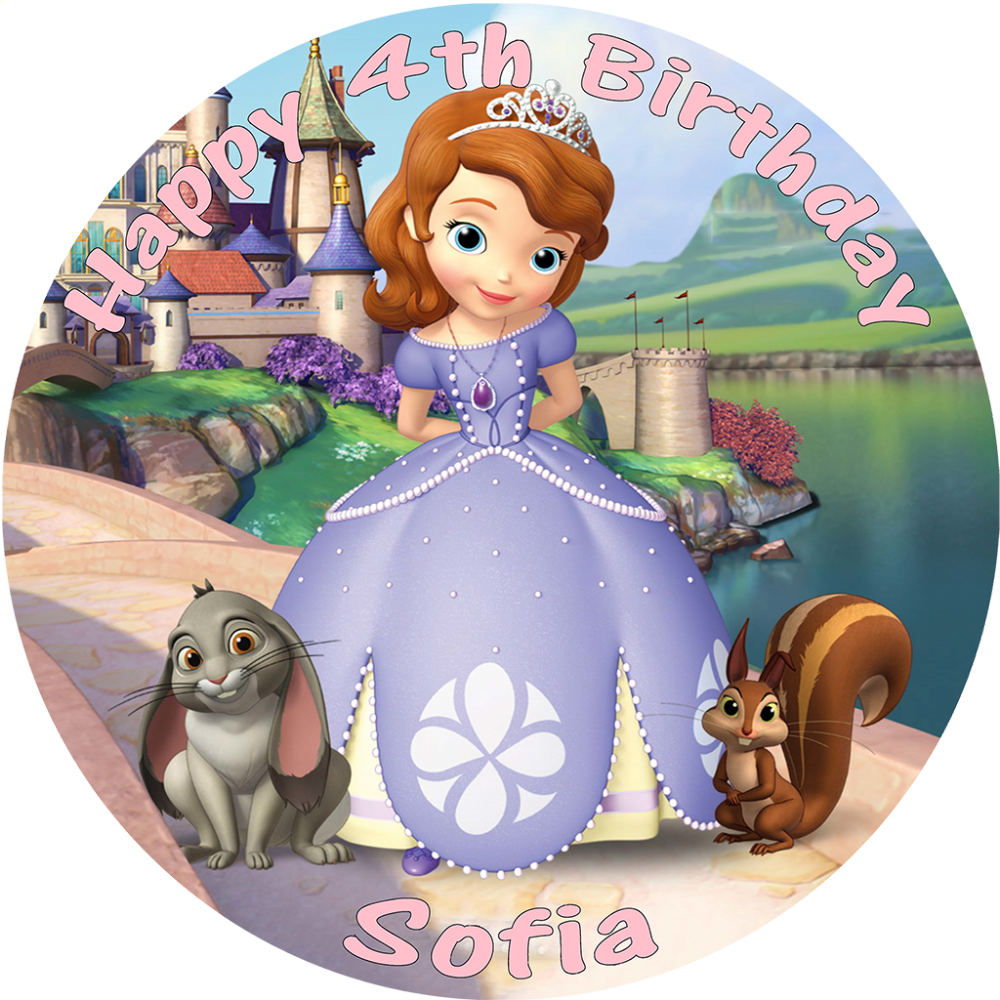 Sofia The First Edible Cake Topper